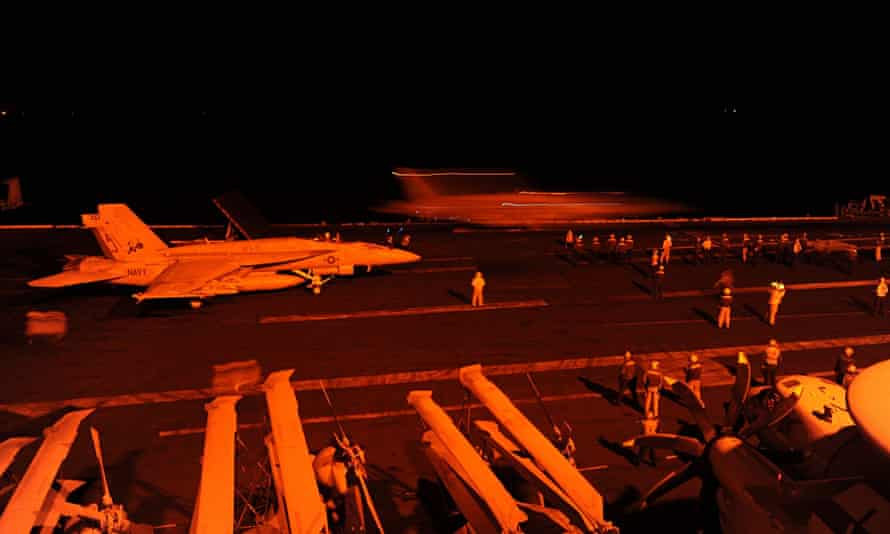 US aircraft prepare to conduct strike missions against Isis targets in Syria