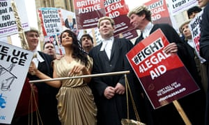 Lawyers demonstrate against legal aid cuts last year