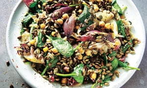 Yotam Ottolenghi's onion, chickpea and goat's cheese salad