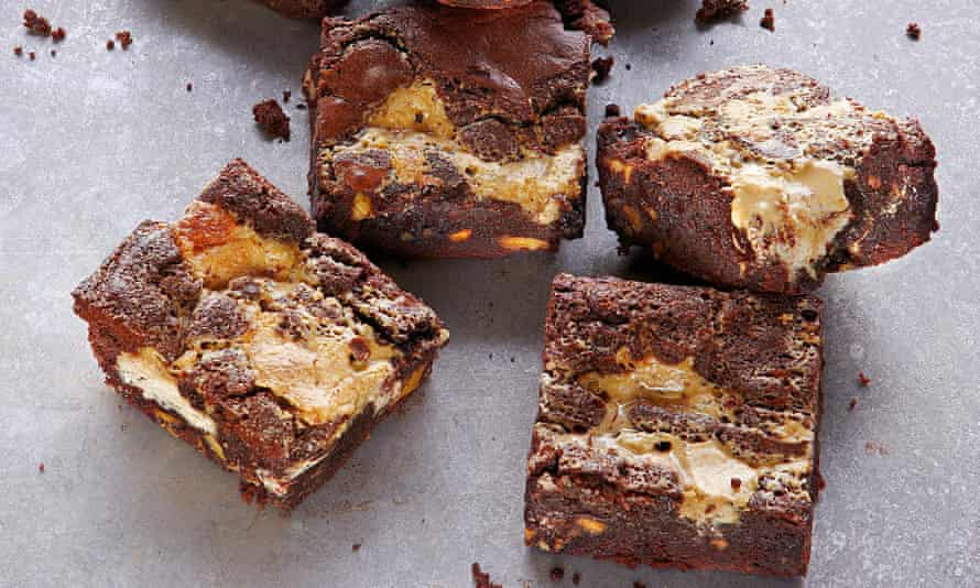 Yotam Ottolenghi's tahini and halva brownies