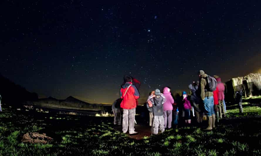Stargazers gathered in Northumberland National Park
