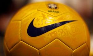 A Nike soccer ball