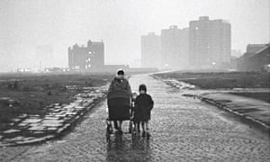 'There's me with my eldest son, Anthony, Mark behind him, Paul in the pram, and I'm seven months pregnant with my youngest son, Phil.' Photograph: Shirley Baker, courtesy of Mary Evans Picture Library