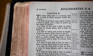 A Bible showing the passage Ecclesiastes; Chapter 3