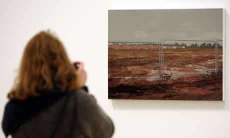 The New Houses 2011 by George Shaw at the Turner Prize 2011 at the Baltic gallery in Gateshead