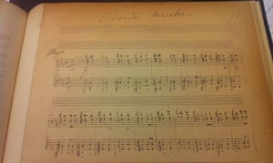 manuscript for Liszt's Czardas Macabre in the British Library