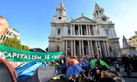 Occupy London protesters camped outside St Paul's Cathedral