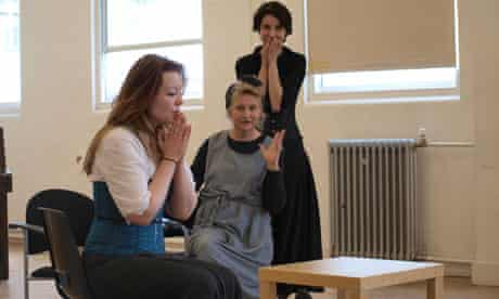 Di Trevis leads an acting workshop
