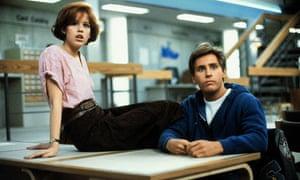 """""""Molly Ringwald and Emilio Estevez in The Breakfast Club"""""""