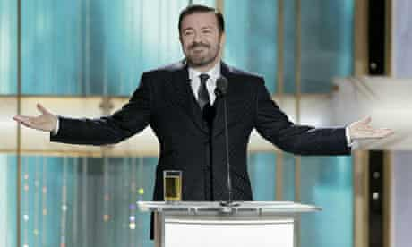 Ricky Gervais hosts the Golden Globes in 2011