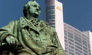 Goethe memorial in Frankfurt