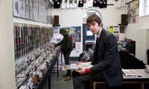 Miles Kane in Probe Records, Liverpool