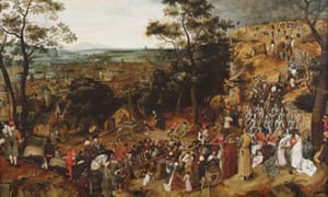 The Procession to Calvary by Pieter Bruegel