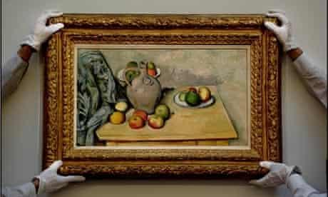 Paul Cezanne's Pichet et Fruits sur une Table
