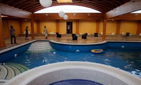 swimming pool inside the house of Aisha Gaddafi