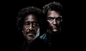 Clarke Peters and Dominic West in Othello