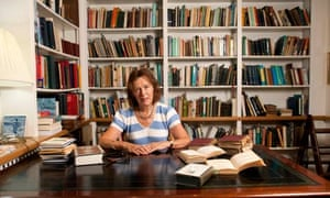 Claire Tomalin, author, at her home in Petersham