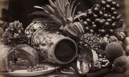 Roger Fenton's Still Life with Ivory Tankard and Fruit (detail)