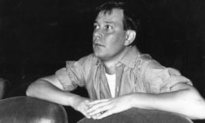 Joe Orton (pictured in 1964) watching a rehearsal of his play Entertaining Mr Sloane