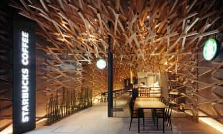 Starbucks designed by Kengo Kuma & Associates