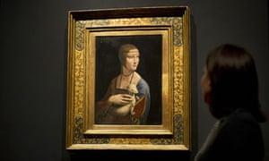 Leonardo da Vinci's Portrait of Cecilia Gallerani (The Lady with an Ermine)