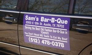 Sam's Bar-B-Que, SXSW advert