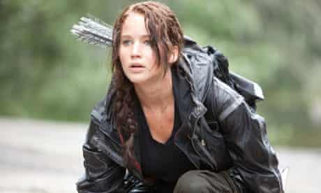 Jennifer Lawrence as Katniss Everdeen in The Hunger Games