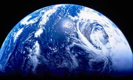 Earth viewed from outer space