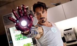 Robert Downey Jnr in Iron Man
