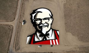 KFC logo of Colonel Sanders in the Nevada desert
