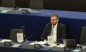 Robert Iwaszkiewicz in European parliament