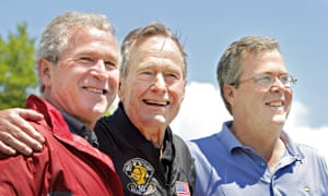 George H Bush with sons George W and Jeb