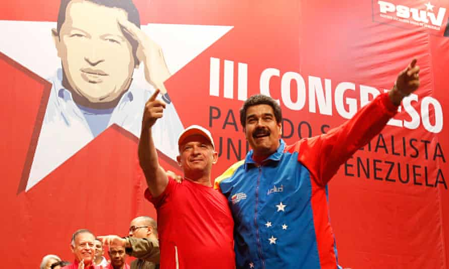 Venezuela president Nicolas Maduro and Hugo Carvajal