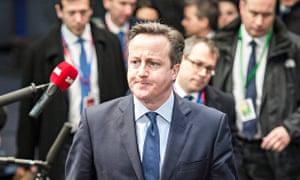 David Cameron in Brussels, 18 December