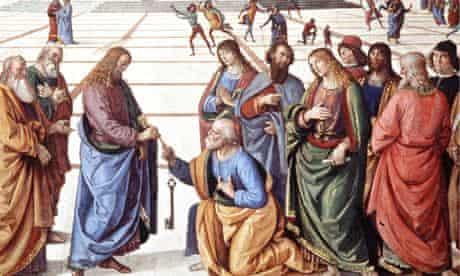 Fresco by Pietro Perugino and Luca Signorelli in the Vatica