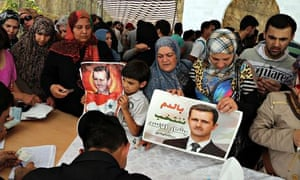 Syrians vote in Yarze, Lebanon, 28 May 2014