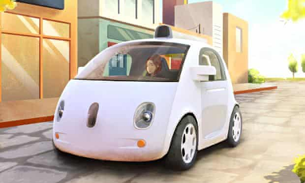 Graphic of Google driverless car