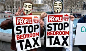 Anti-bedroom tax protest, London, March 2013
