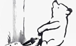 Banksy print, Pooh Bear