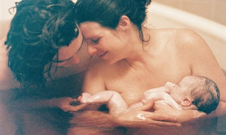 Water birth, with couple