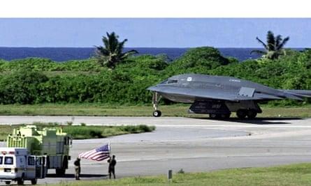 US bomber plane on Diego Garcia