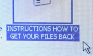 Computer virus message