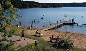 Lake bathing, Brandenburg