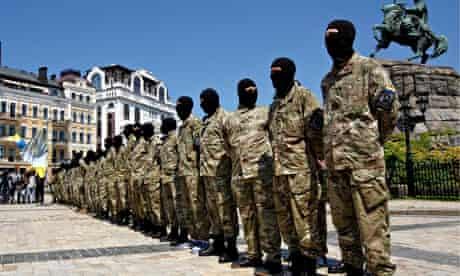 Ukrainian self-defence force in Kiev