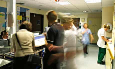 NHS hospital ward reception