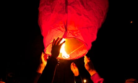 Launch of Chinese lantern