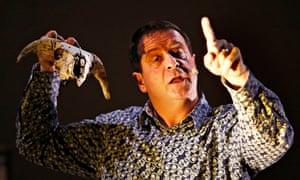 Mark Thomas, in monologue Cuckooed, Edinburgh