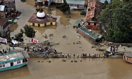 Srinagar flooded streets