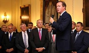 David Cameron at Nato meeting