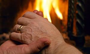 Elder couple's hands